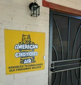 American Conditioned Air sign -- contact
