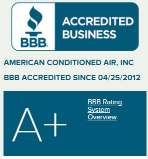 BBB Accredited Business -- American Conditioned Air